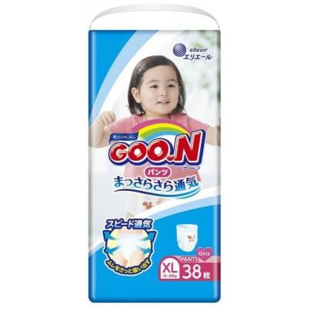 Подгузник GOO.N для девочек 12-20 кг, XL, 38 шт (853630)