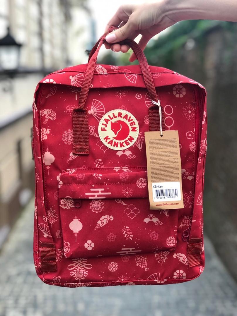 Рюкзак Fjallraven Kanken Classic (red), рюкзак Канкен, червоний портфель канкен