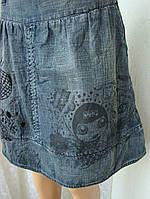 Юбка модная молодежная джинсовая миди бренд Oprk р.42-44, фото 1