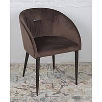 Elbe (Эльба) кресло велюр коричневый