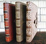 Кожаная папка с кольцами для фотографий презентаций прайса ручной работы формат а4, фото 5