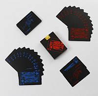 Покерні карти пластикові Black Poker Cards