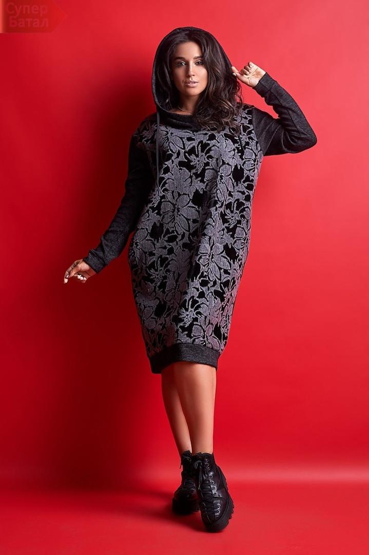 Платье большого размера Likara / ангора, бархат / Украина 32-808, фото 1