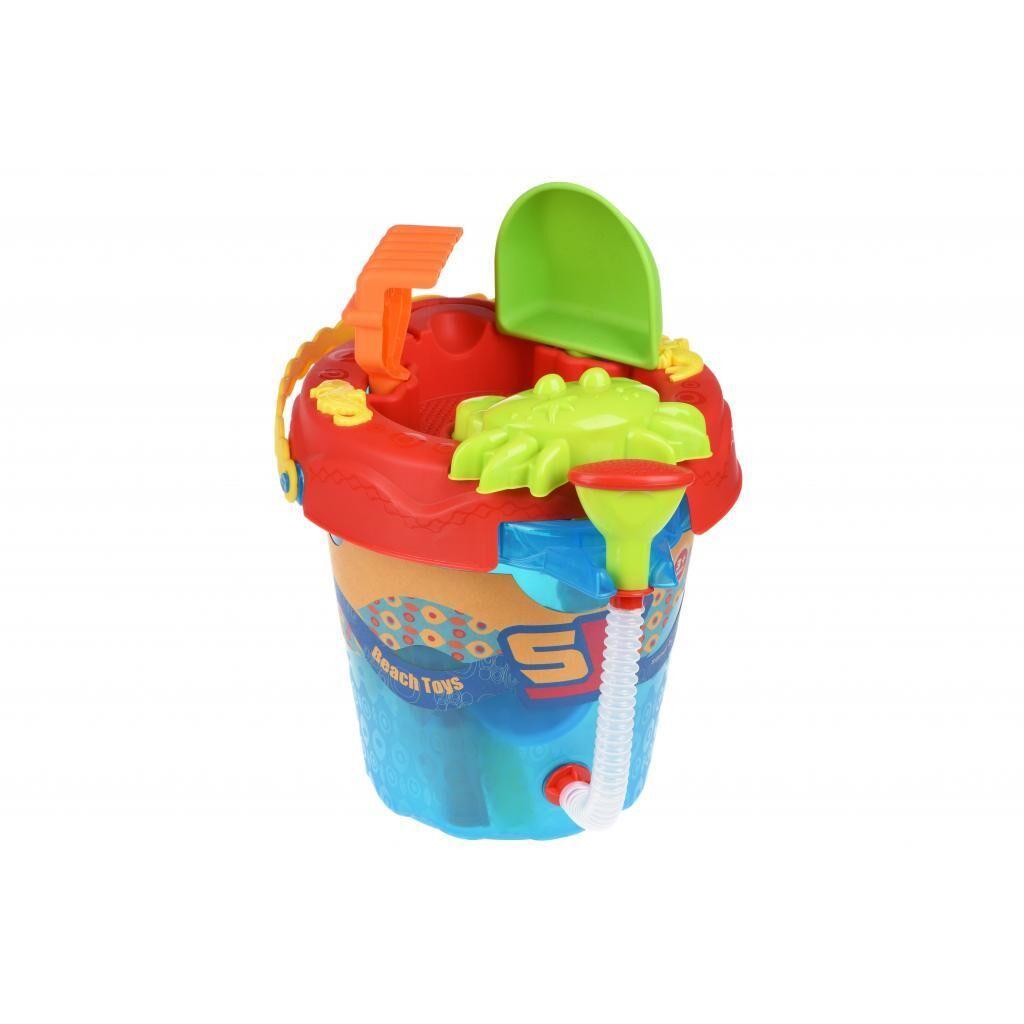 Игрушка для песка Same Toy 6 ед Ведерко синее (976Ut-2), фото 1