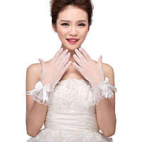 Кружевные ажурные перчатки. Свадебные перчатки.