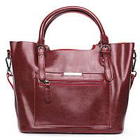 ОСТАЛАСЬ ПОСЛЕДНЯЯ! Женская сумка из натуральной кожи красного цвета классика, фото 1