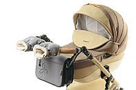Комплект сумка и рукавички на коляску Ok Style Цветок (Серый)
