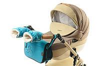Комплект сумка и рукавички на коляску Ok Style Цветок (Бирюзовый светлый)