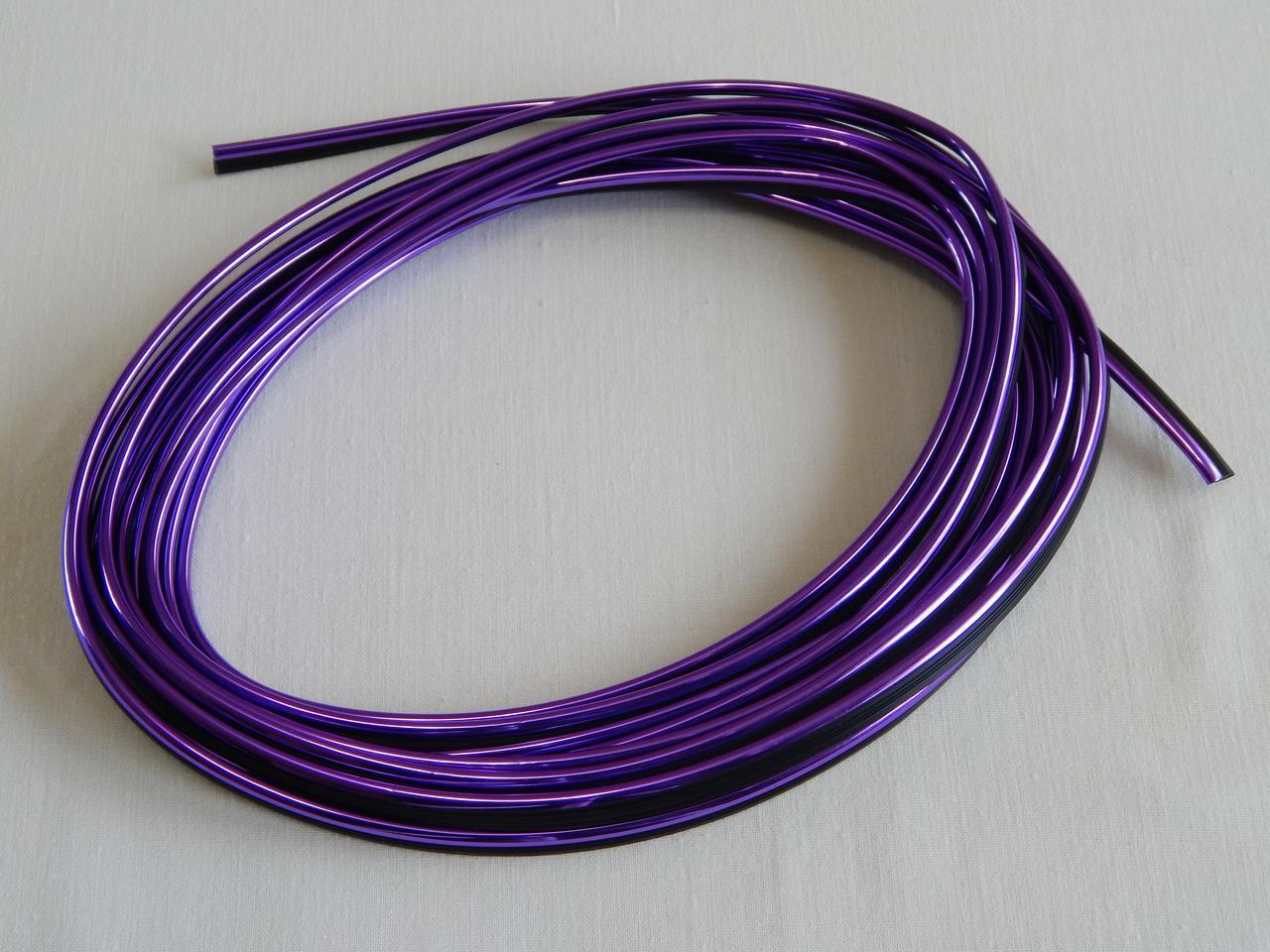 Молдинг декоративний для салону автомобіля ZIRY 5м, фіолетовий металік