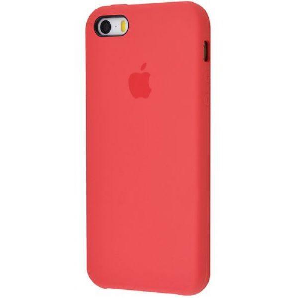 Панель Silicone Case для Apple iPhone 5/5S/SE Red
