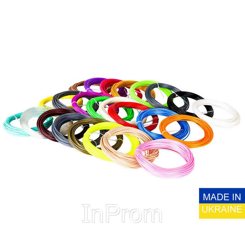 Набор пластика ABS для 3D ручек 240 метров (16 цветов по 15 метров)
