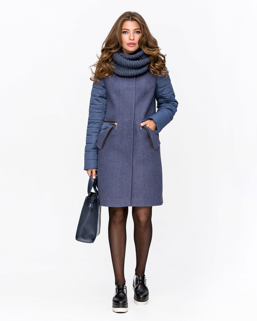 Демискзонное пальто с хомутом с 42 по 54 размер