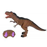 Интерактивная игрушка Same Toy Динозавр Dinosaur Planet коричневый со светом и звуком (RS6123AUt)