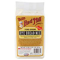 Bob's Red Mill, Смесь для ржаного хлеба, 17 унций (481 г) (Discontinued Item)