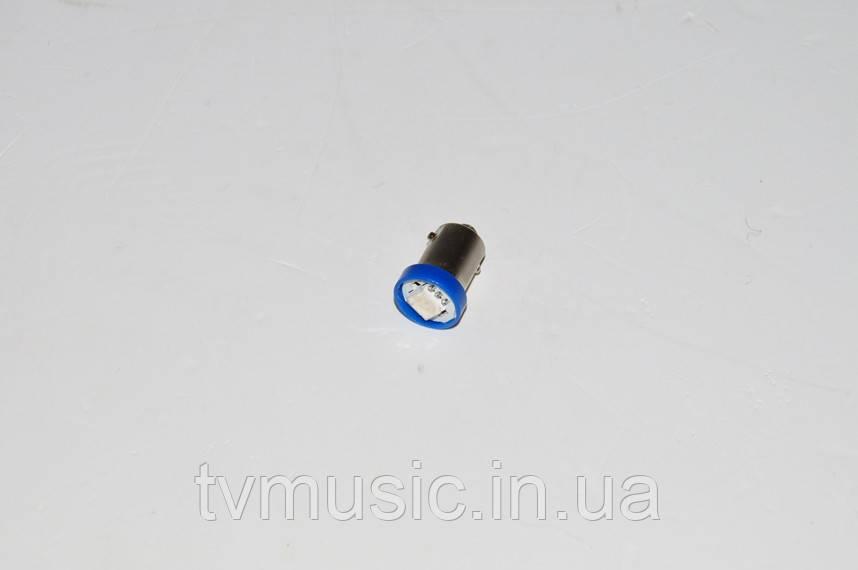 Светодиодная лампочка BA9S-5050-1SMD Blue