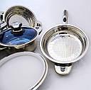 Набор кастрюль Eisenbach нержавеющая сталь 18/10, 16 элементов, фото 4