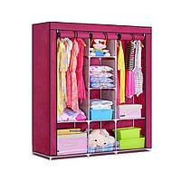 Мобильный тканевой шкаф для одежды HCX Storage Wardrobe №88130 коричневый