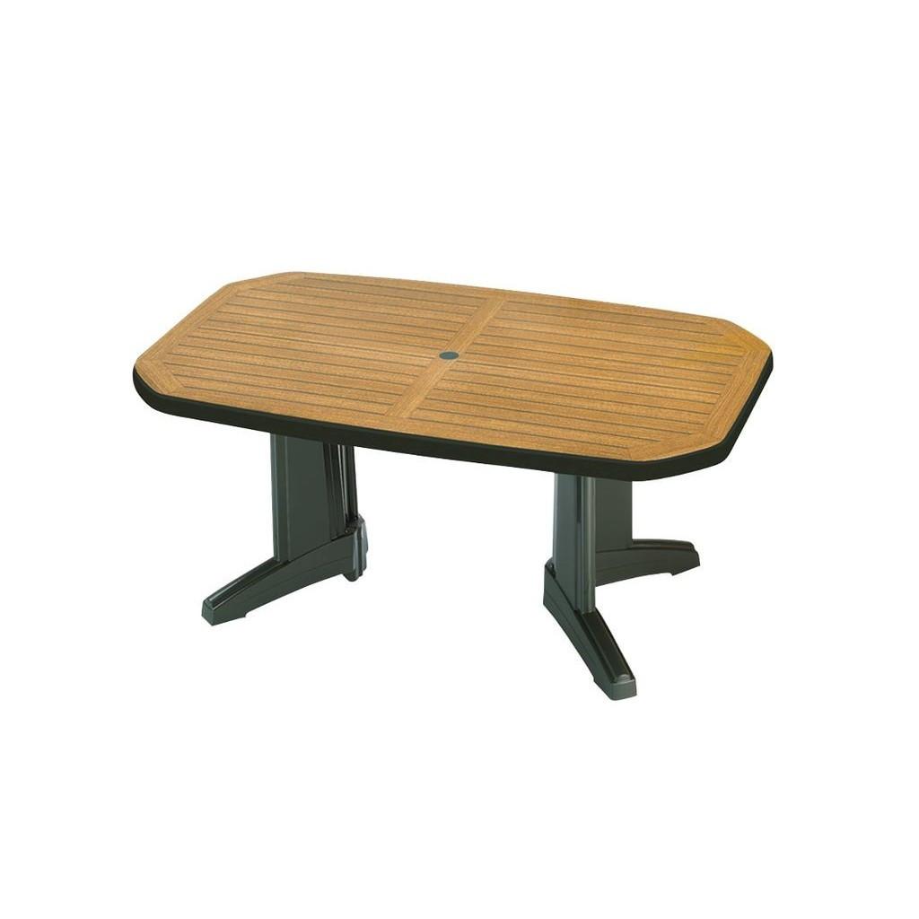 Laguna (Лагуна) стол пластиковый прямоугольный 100 см зелёный