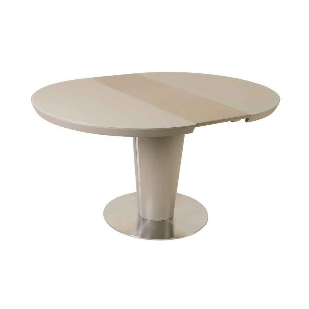 Lee (Ли) стол раскладной кремовый+мокко 110-145 см