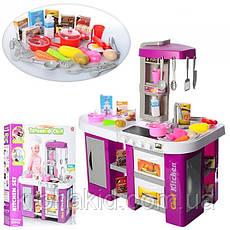 Игровой набор детская кухня Kitchen Set С КРАНА ТЕЧЕТ ВОДА, СО ЗВУКОМ И СВЕТОМ 922-46 на 53 предмета (Фиолет), фото 2