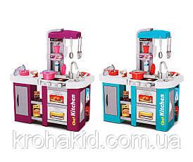 Игровой набор детская кухня Kitchen Set С КРАНА ТЕЧЕТ ВОДА, СО ЗВУКОМ И СВЕТОМ 922-46 на 53 предмета (Фиолет), фото 3