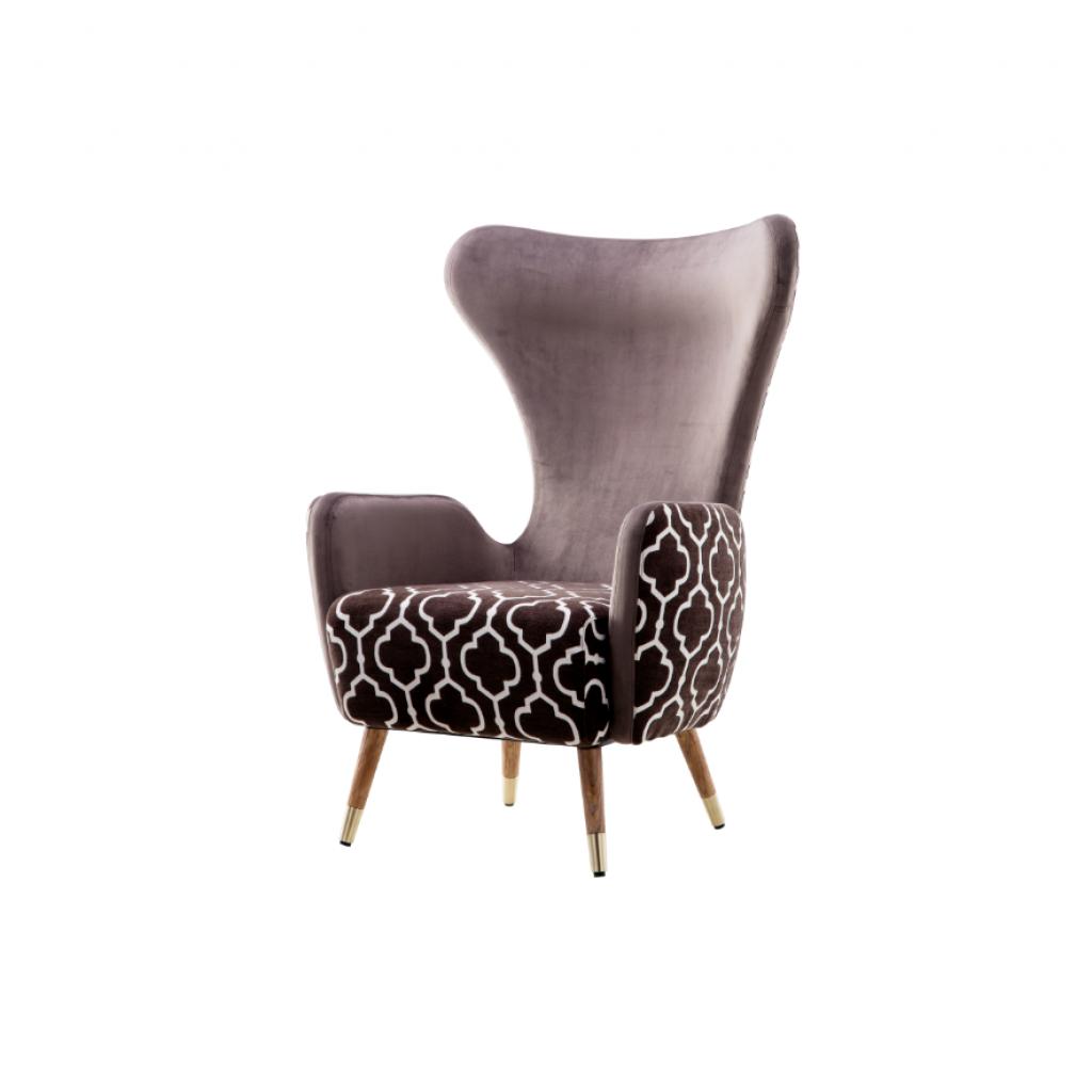 Rist (Рист) кресло велюр коричневый