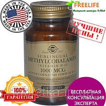 Solgar, Сублингвальный метилкобаламин (Витамин В12), 1000 мкг, 60 капсула