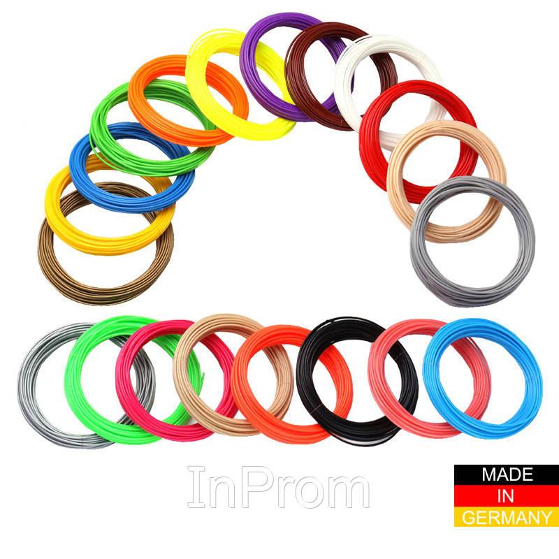 Набор пластика ABS+ для 3D ручек 480 метров (16 цветов по 30 метров)