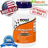 Now Foods, L-метионин, 500 мг, 100 капсул, фото 2