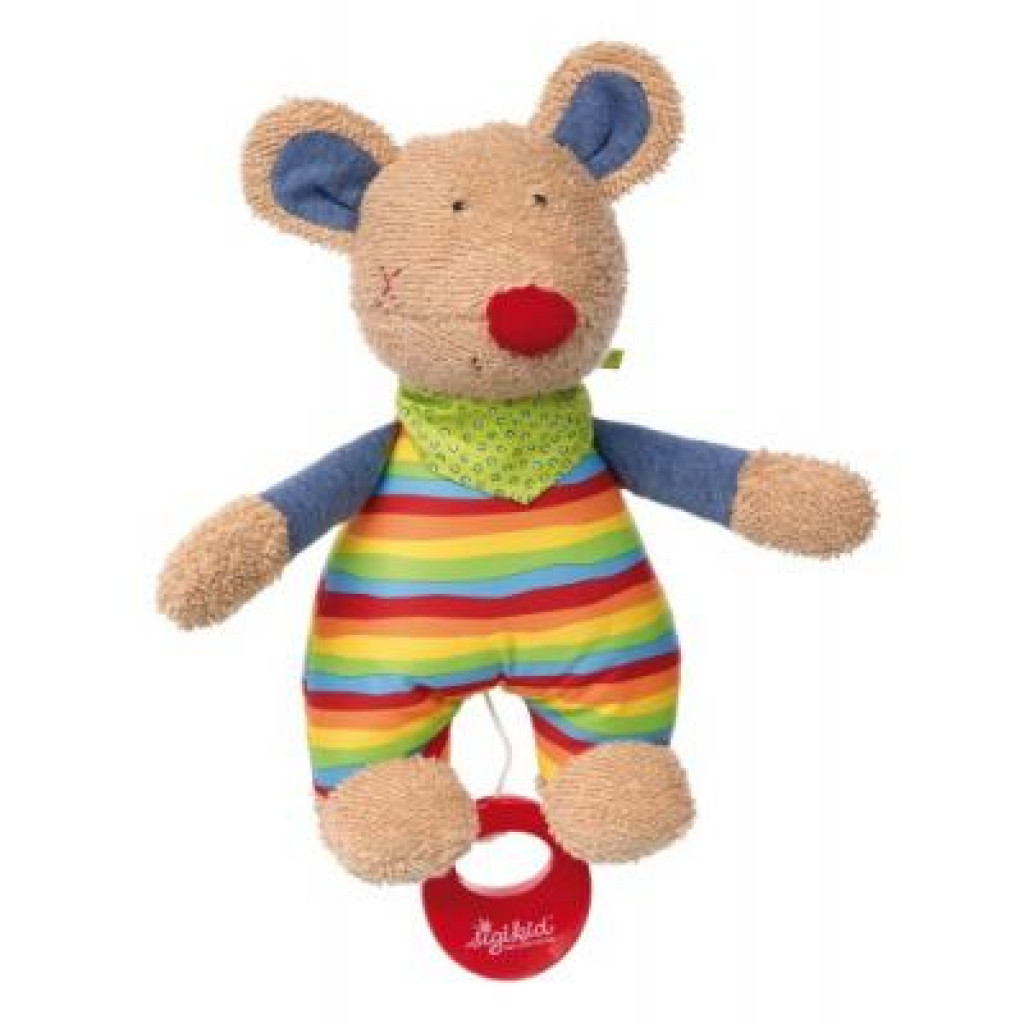 Мягкая игрушка sigikid музыкальная Мышка 23 см (41535SK)