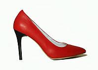 Туфли красная кожа классика