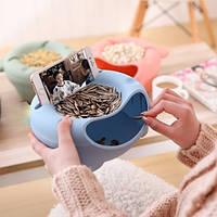 Миска для семечек с подставкой для телефона сиреневый