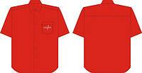 Сорочка мужская с коротким рукавом (тенниска) пошив