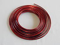 Молдинг декоративний для салону автомобіля ZIRY 5м, червоний металік, фото 1