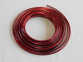 Молдинг декоративний для салону автомобіля ZIRY 5м, червоний металік