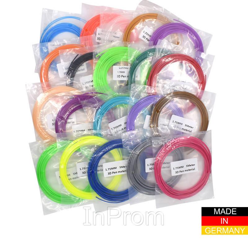 Набор пластика PLA+ для 3D ручек 280 метров (14 цветов по 20 метров)