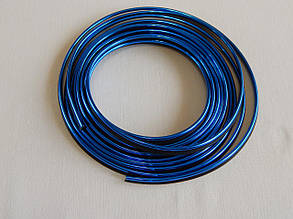 Молдинг декоративний для салону автомобіля ZIRY 5м, синій металік