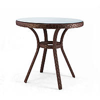 Блюз круглый столик из ротанга