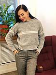 Теплый женский вязаный свитер с шерстью и полоской 404608, фото 6