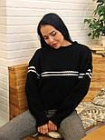 Теплый женский вязаный свитер с шерстью и полоской 404608, фото 7