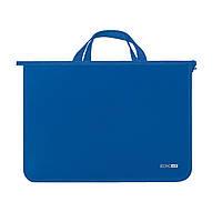 Пластиковый портфель на змейке 2 отделения E31630-02 Синий
