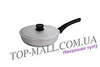 Сковорода алюминиевая Биол - 240 х 102 мм, с рифленым дном и крышкой