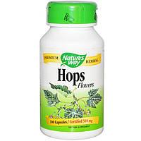 Nature's Way, Соцветия хмеля, 310 мг, 100 капсул