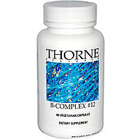 Thorne Research, Комплекс витаминов группы B №12, 60 капсул