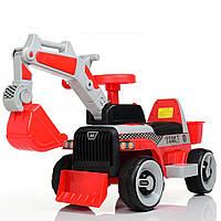 """Электромобиль толокар """"Трактор с ковшом"""" Bambi (M 4144L-3) 2 в 1, управляемый ковш"""