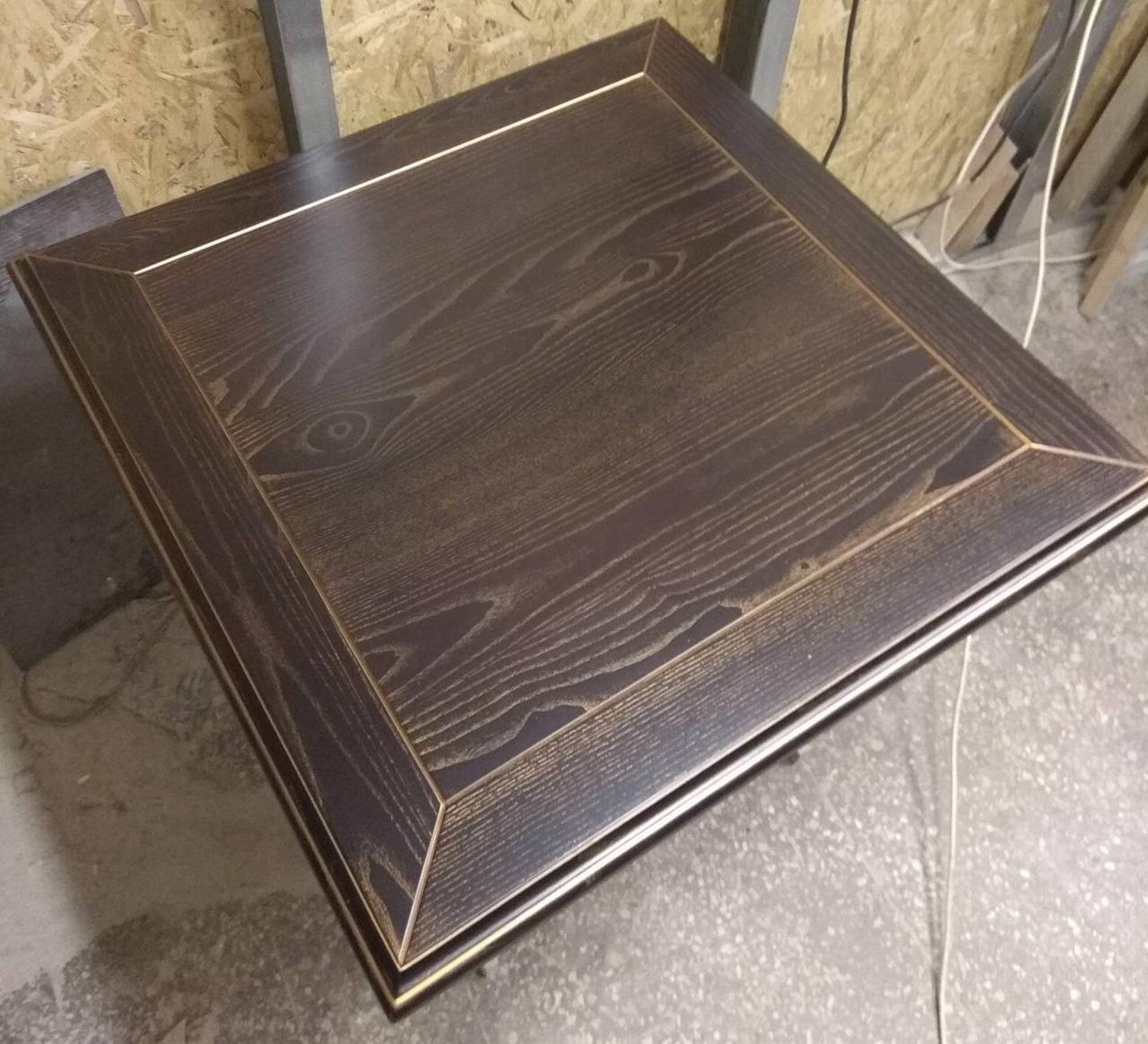 Столешница массив Ясеня с обкладом 800х800. Изготовление столешниц из ясеня.
