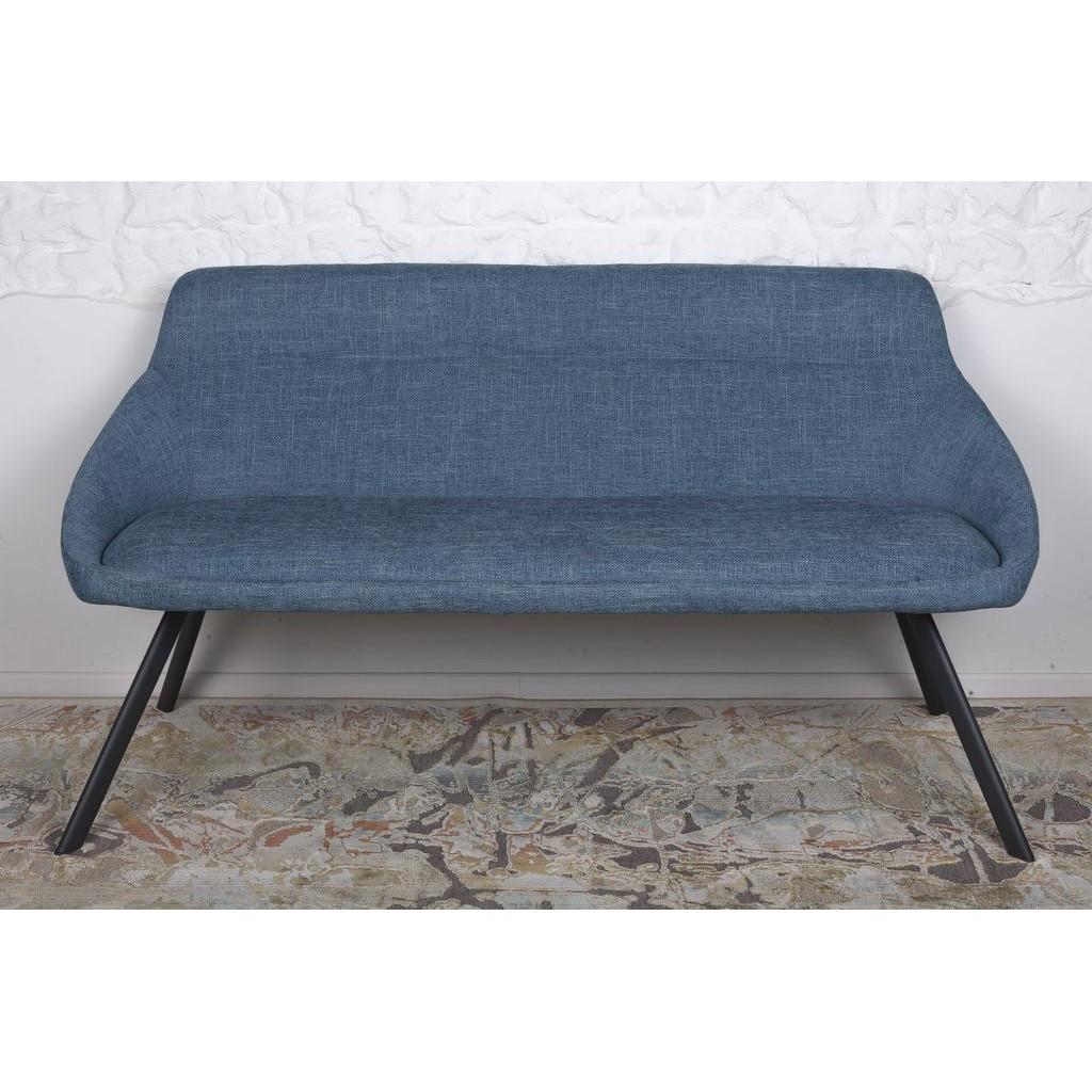 Toledo (Толедо) кресло-банкетка рогожка тёмно-голубой