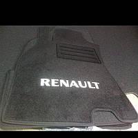 Ворсовые коврики в салон RENAULT Megane 3 хетчбэк с 2010 г. (Черный)