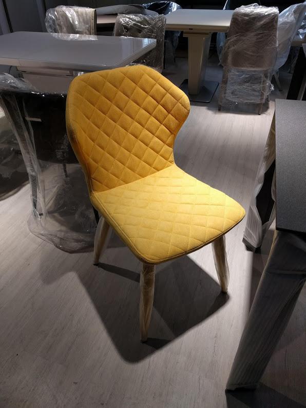 Стул Valencia (Валенсия) текстиль желтый
