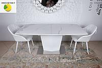 Michigan (Мичиган) стол раскладной 180-230 см керамика белый глянец
